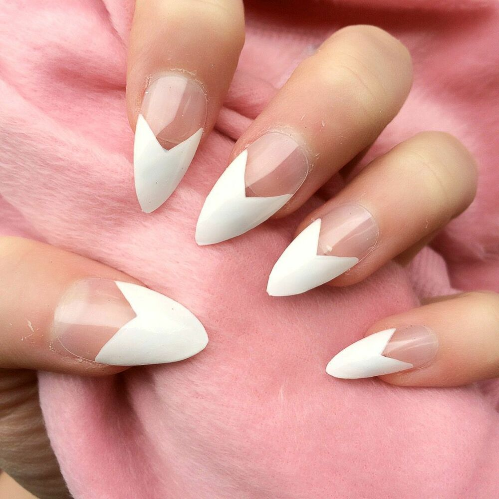 Doobys Nails - French Manicure White - 24 Glue on Hand ...