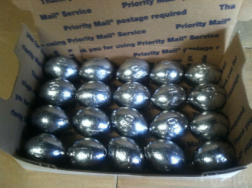 16 egg slip sinkers 10 oz fishing weights fast free for Inline fishing weights