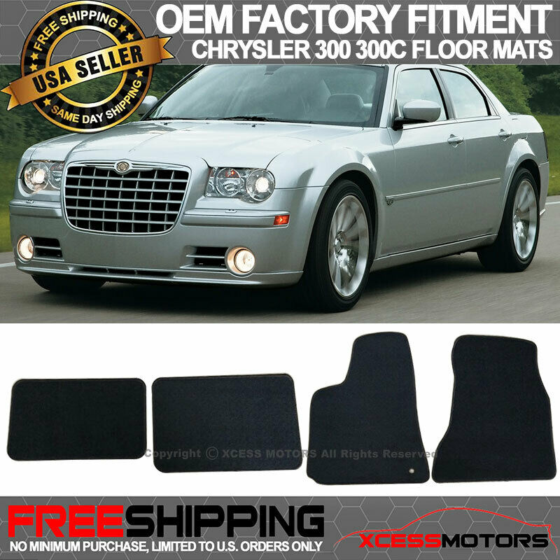 05 10 chrysler 300 300c factory cut floor mats carpet. Black Bedroom Furniture Sets. Home Design Ideas