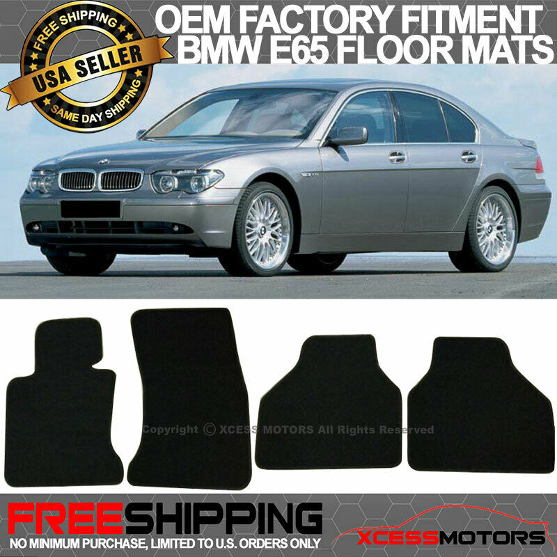 04 09 Bmw E65 7 Series Factory Cutting Floor Mats Carpet