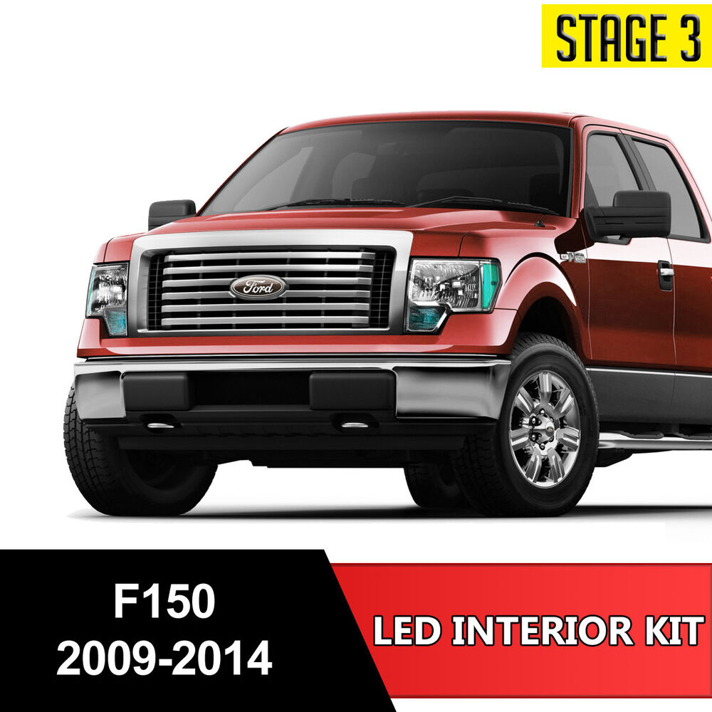 14pcs white led light interior license package kit for ford f 150 2009 2014 ebay 2007 ford f 150 interior lights
