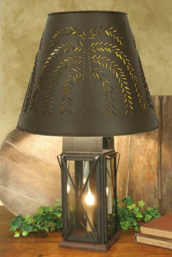 Large Milk House Lamp Light With Willow Shade 4 Way