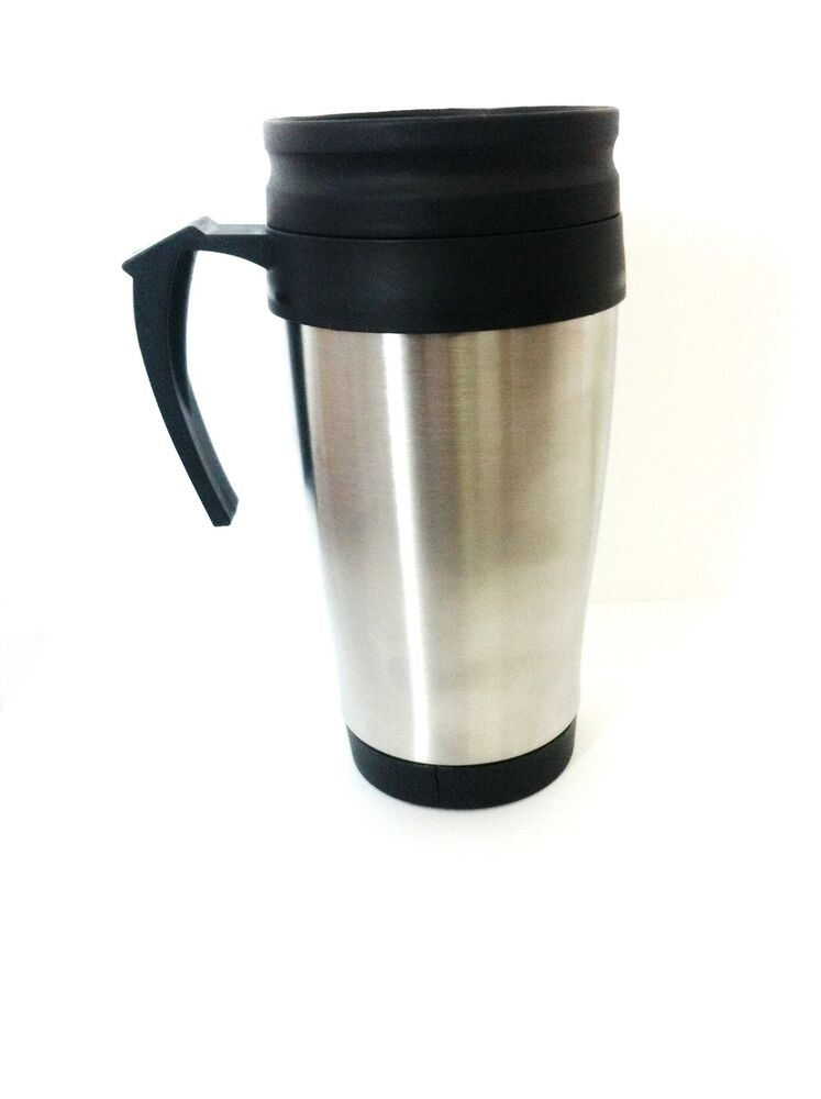 new stainless steel insulated thermal travel mug coffee flask cup removable lid ebay. Black Bedroom Furniture Sets. Home Design Ideas