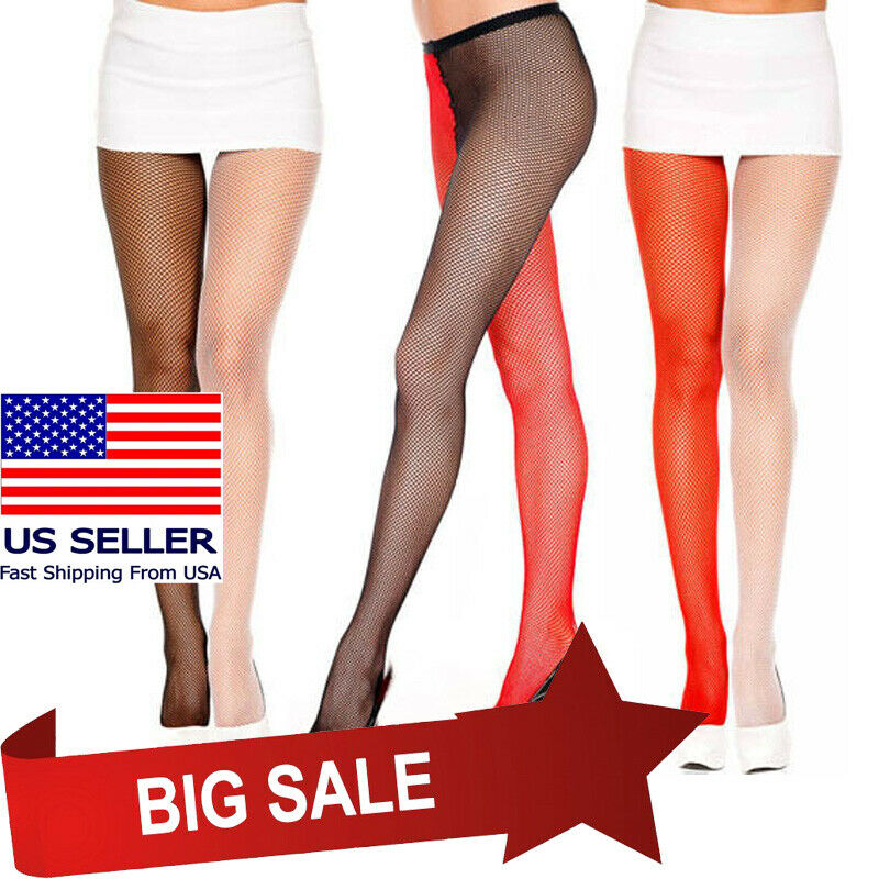 8f304d9ef Details about Two Tone Fishnet Pantyhose Jester Harlequin Halloween Costume  Tights Hosiery OS