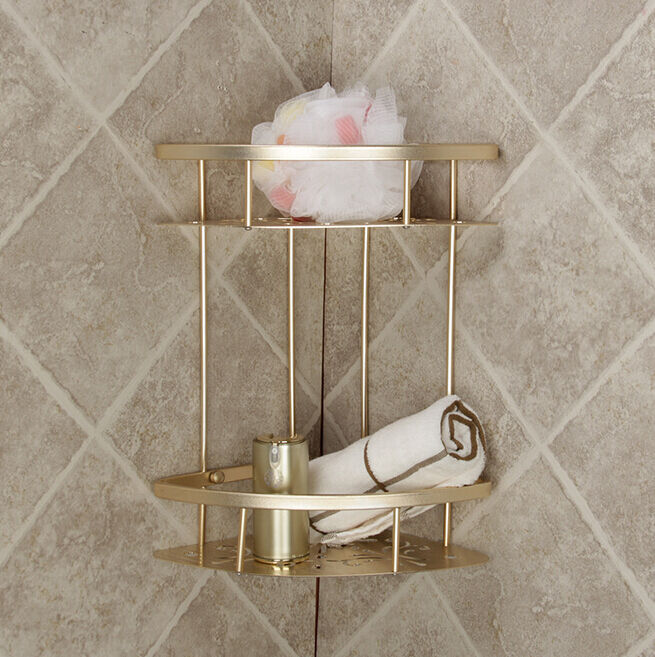 Shower caddy corner shelf organizer bath storage bathroom for Rack for bathroom accessories