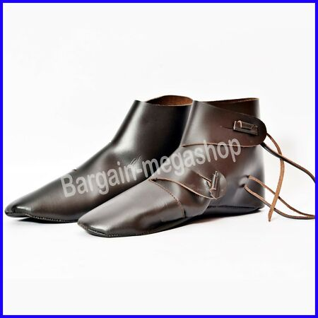img-Medieval Leather Boots Riding Shoes Fancy Armor Renaissance Costume Mens Shoe