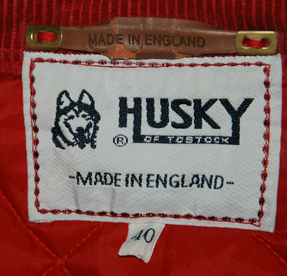 vintage husky of tostock made in quilted jacket