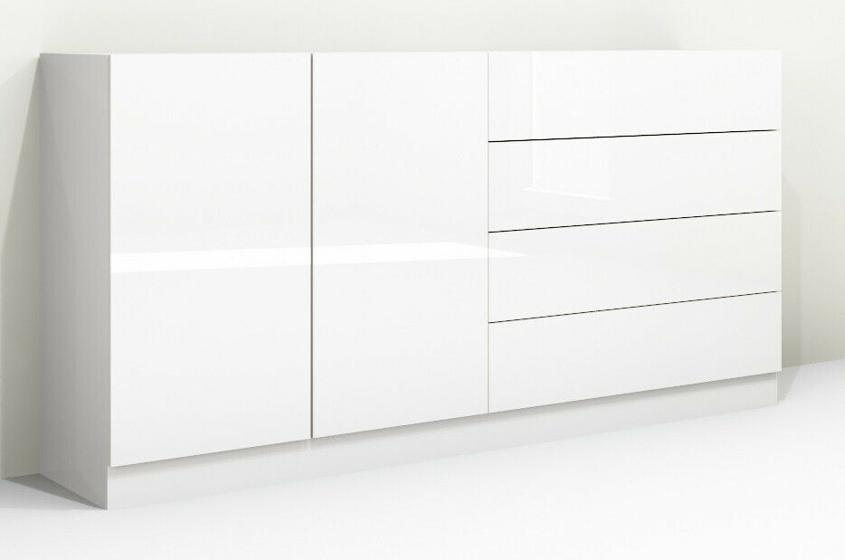 kommode v3 anrichte sideboard schrank m bel hochglanz wei matt modern flur ebay. Black Bedroom Furniture Sets. Home Design Ideas