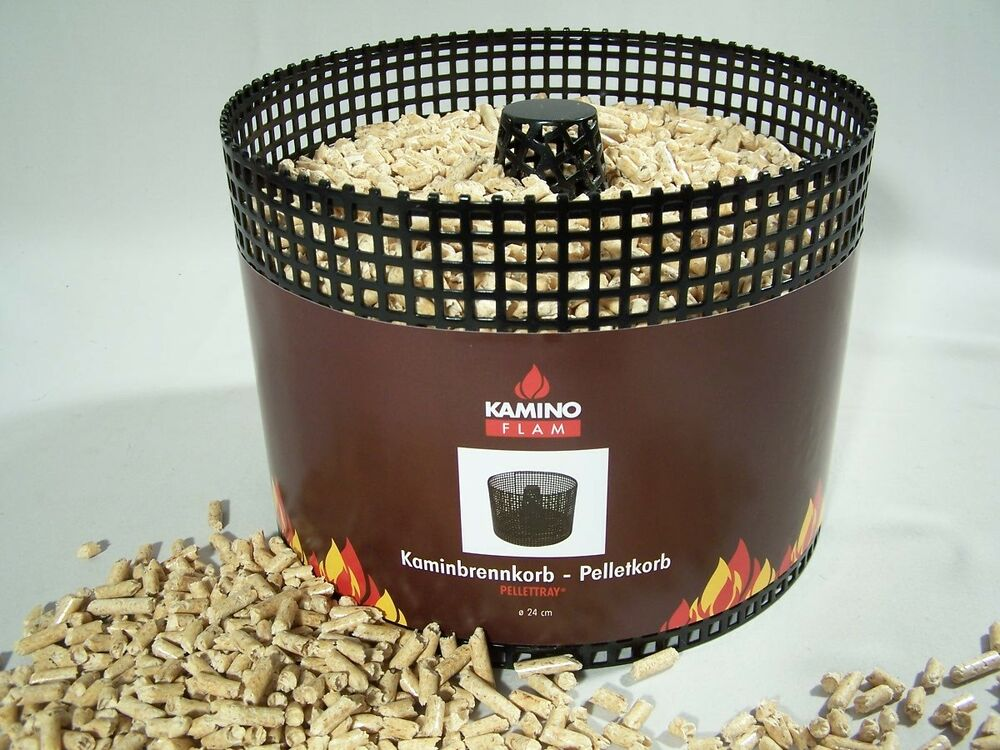 pelletkorb pellets pelletskorb kaminkorb kamin 24 x 17cm kaminofen schwedenofen ebay. Black Bedroom Furniture Sets. Home Design Ideas