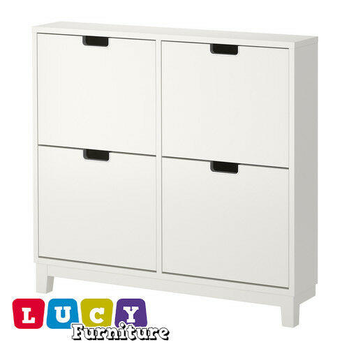 IKEA STALL Shoe Cabinet With 4 Compartments Storage
