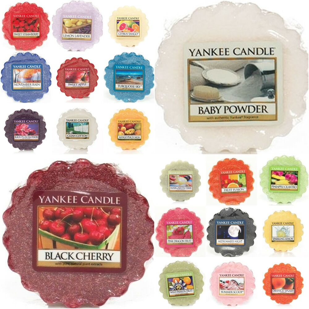 yankee candle 10 tarts schmilzt alle arten frische fr chte blumenmuster essen ebay. Black Bedroom Furniture Sets. Home Design Ideas