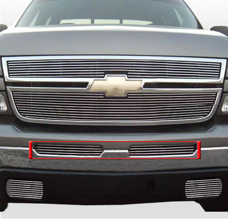 03 06 chevy silverado 1500 2500 3500 hd front air dam bumper billet grille 04 05 ebay. Black Bedroom Furniture Sets. Home Design Ideas