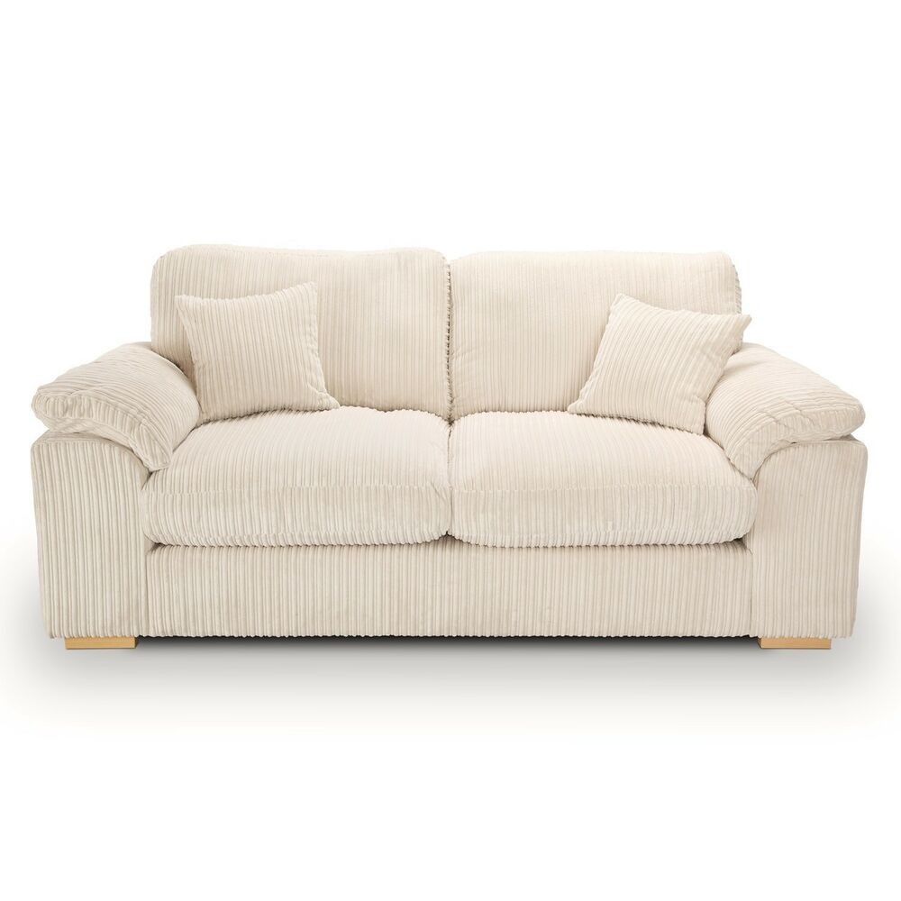 Riva Jumbo Cord Large 3 2 Seater Sofa Available In 10