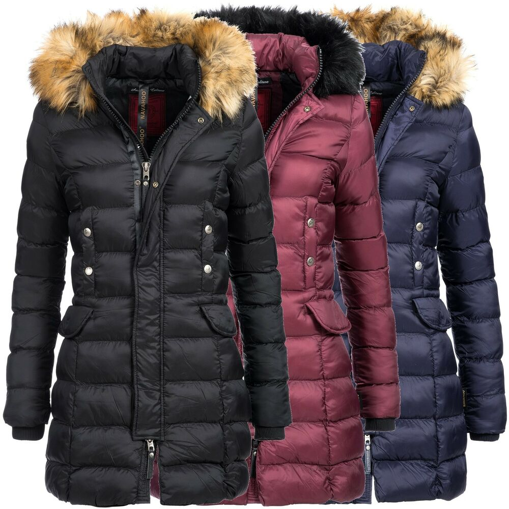 navahoo angel damen jacke parka mantel winterjacke. Black Bedroom Furniture Sets. Home Design Ideas