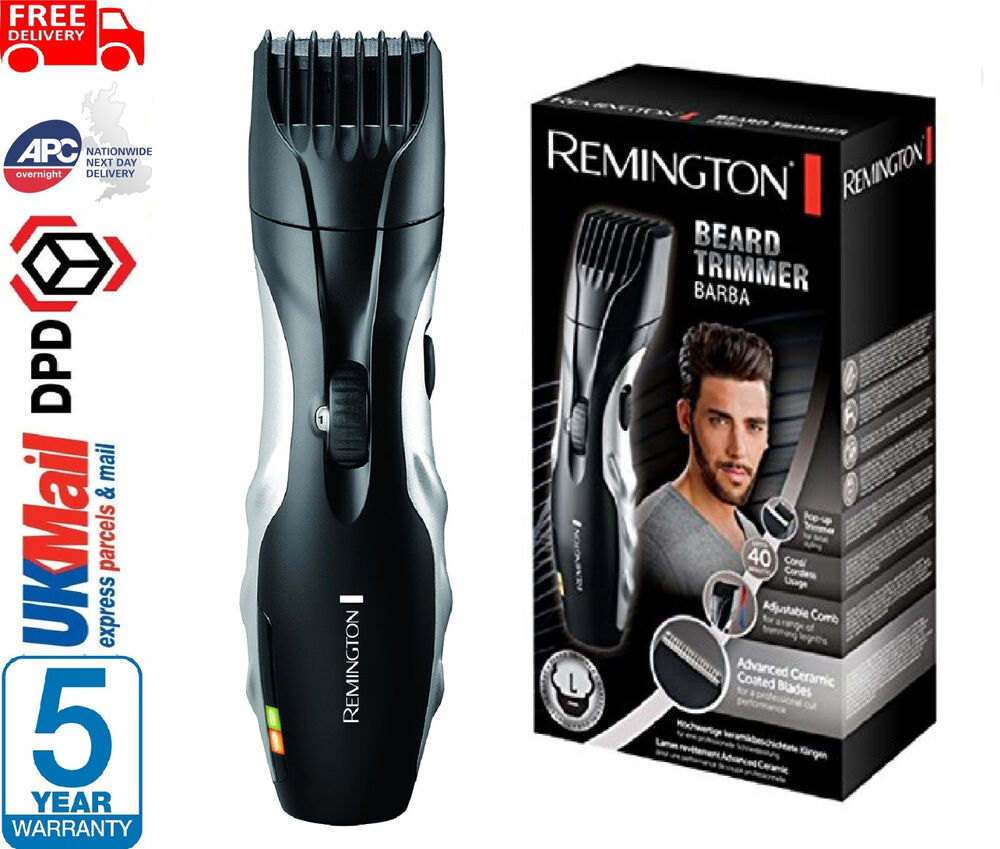 remington mb320c barba beard hair trimmer shaver rechargeable cordless grooming 4008496590087 ebay. Black Bedroom Furniture Sets. Home Design Ideas