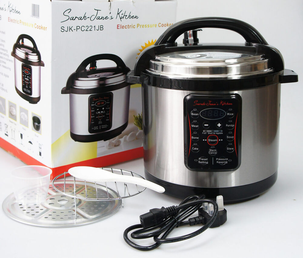Cooking Pot Steamer ~ L electric pressure cooker stainless steel soup stew