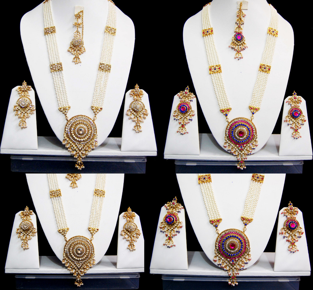 Bridal Jewelry Indian Wedding: Indian Long Rani Haar Bridal Necklace Set Pearl Indian