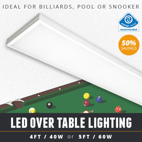 OVER TABLE LED BILLIARD / POOL TABLE LIGHT OR LED SNOOKER