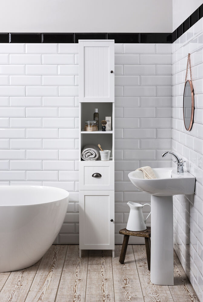 Unique WHITEMULTIUSEBATHROOMSTORAGEUNIT4DRAWERCABINETCUPBOARDSHAKER