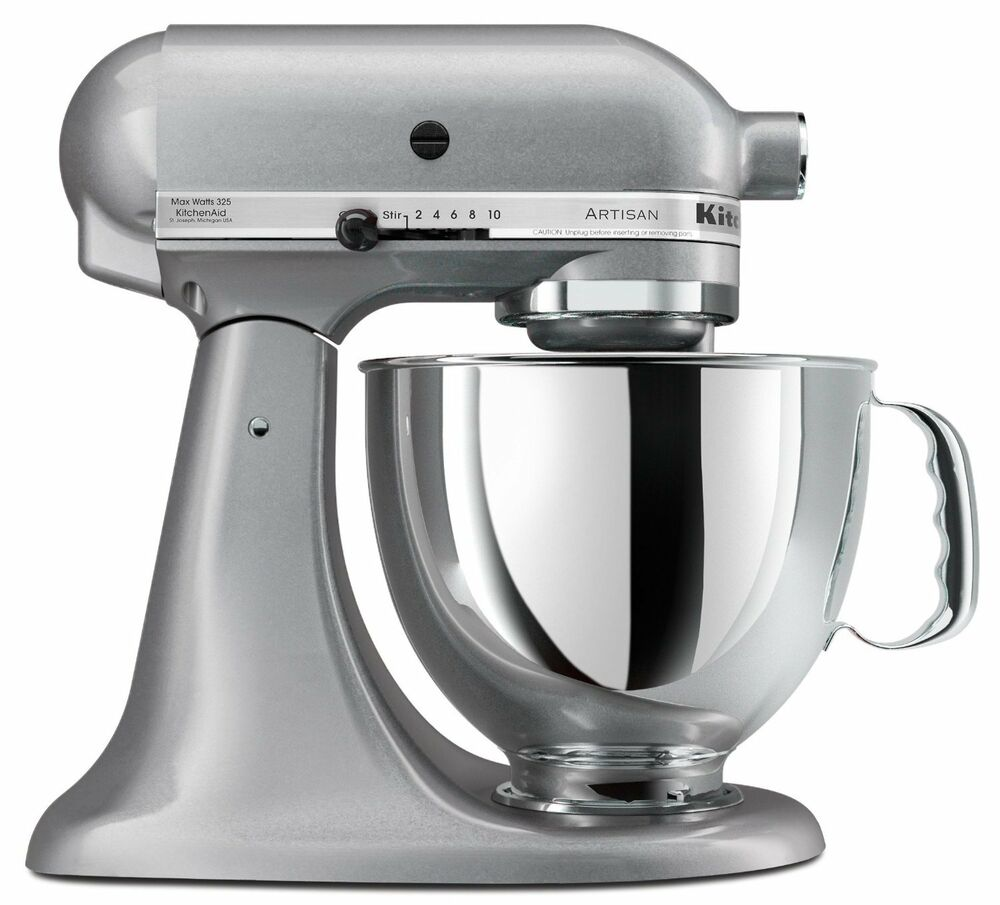 new sealed kitchenaid artisan ksm150pssm 5 quart stand mixers all metal silver 50946877020 ebay. Black Bedroom Furniture Sets. Home Design Ideas