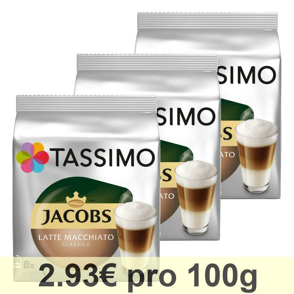 tassimo jacobs latte macchiato classico kaffee milchkaffee kapsel 48 t discs ebay. Black Bedroom Furniture Sets. Home Design Ideas