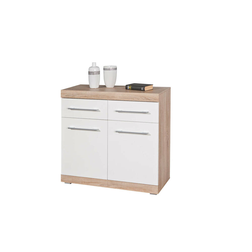 kommode sideboard holzkommode schrank holz hochglanz wei. Black Bedroom Furniture Sets. Home Design Ideas