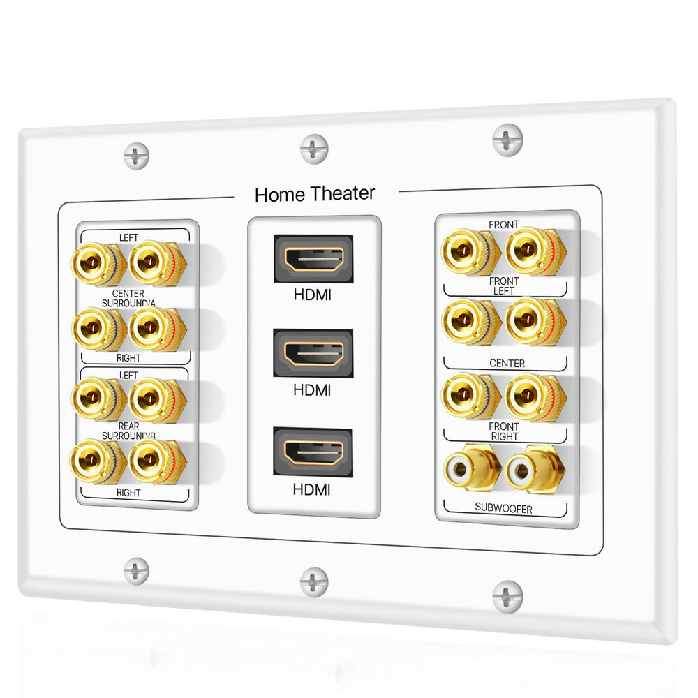 home theater wall plates 7 1 7 2 home theater speaker wall plate 2 rca jacks 3 180
