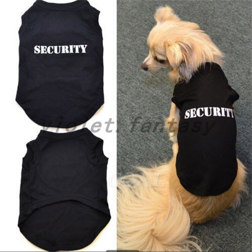Pet dog clothes clothing printing letters pure cotton vest for Dog t shirt for after surgery
