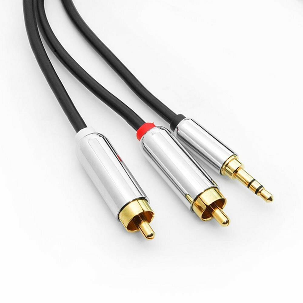 Lot 2 6 ft stereo audio male to 2 rca cable for Precio cable 2 5mm