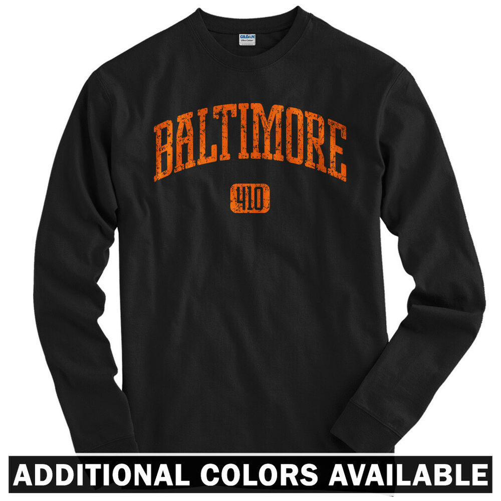 Baltimore 410 Long Sleeve T Shirt Ls Charm City Orioles