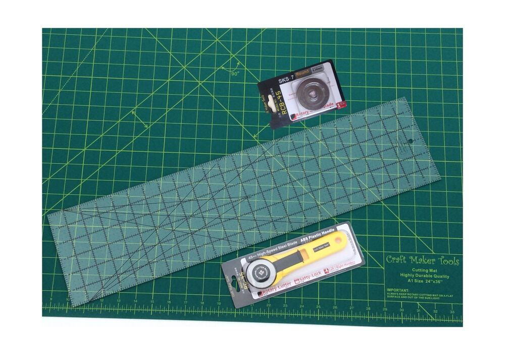 Fabric cut tool rotary cutter cutting set mat acrylic for Cutting mat for crafts