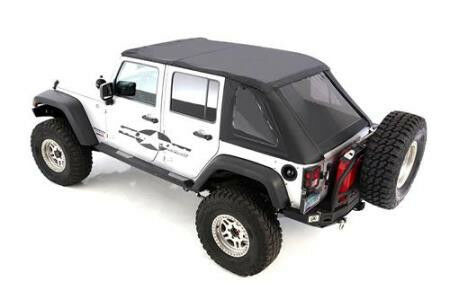 2010 2016 Soft Top Jeep Wrangler Unlimited Black Tint