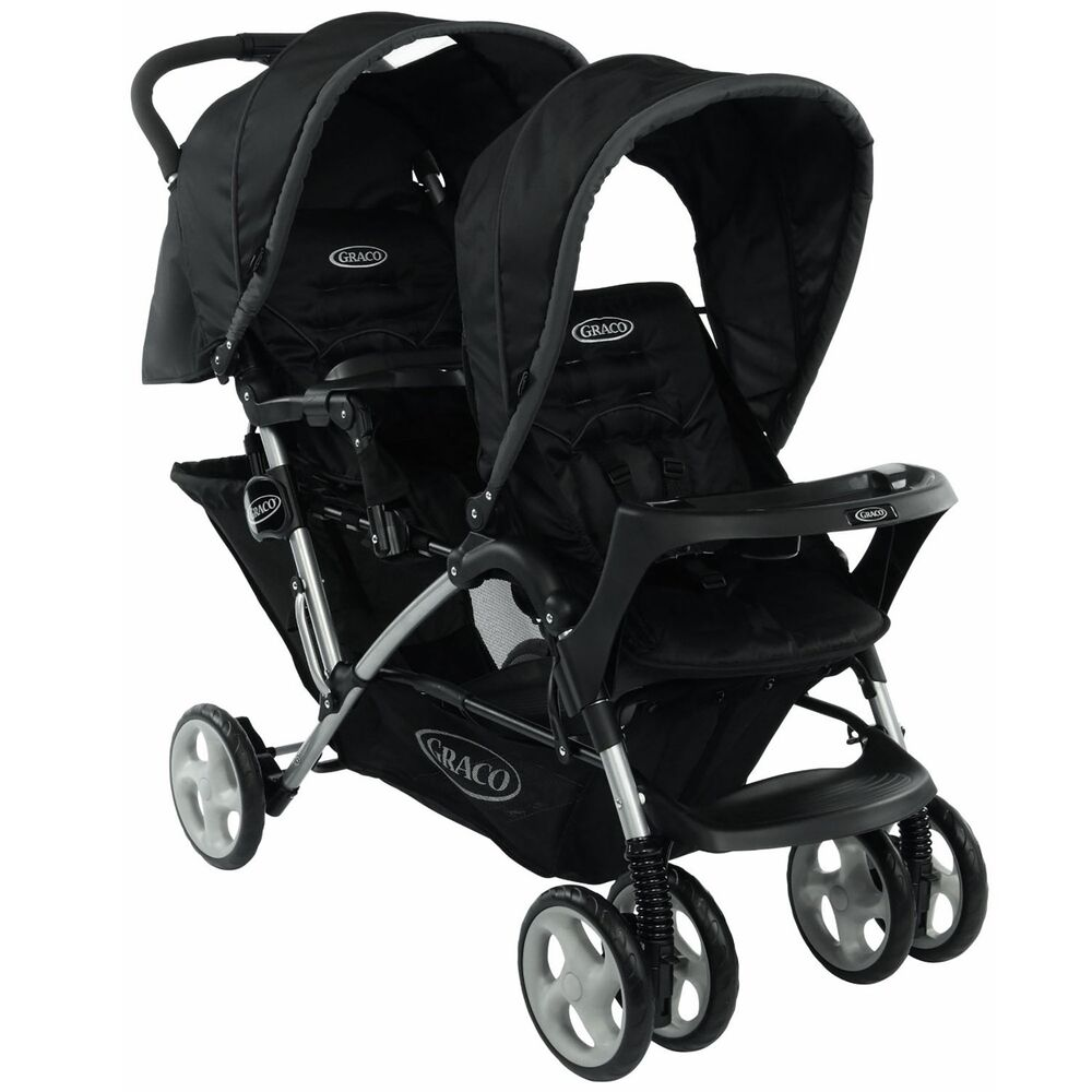 graco black stadium duo double compact stroller oxford. Black Bedroom Furniture Sets. Home Design Ideas