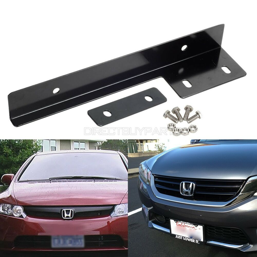 Universal Fit Front Bumper License Plate Mount Bracket