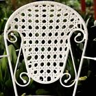 4 X Arm Chairs In White Colour Iron Frame and White Color Wicker