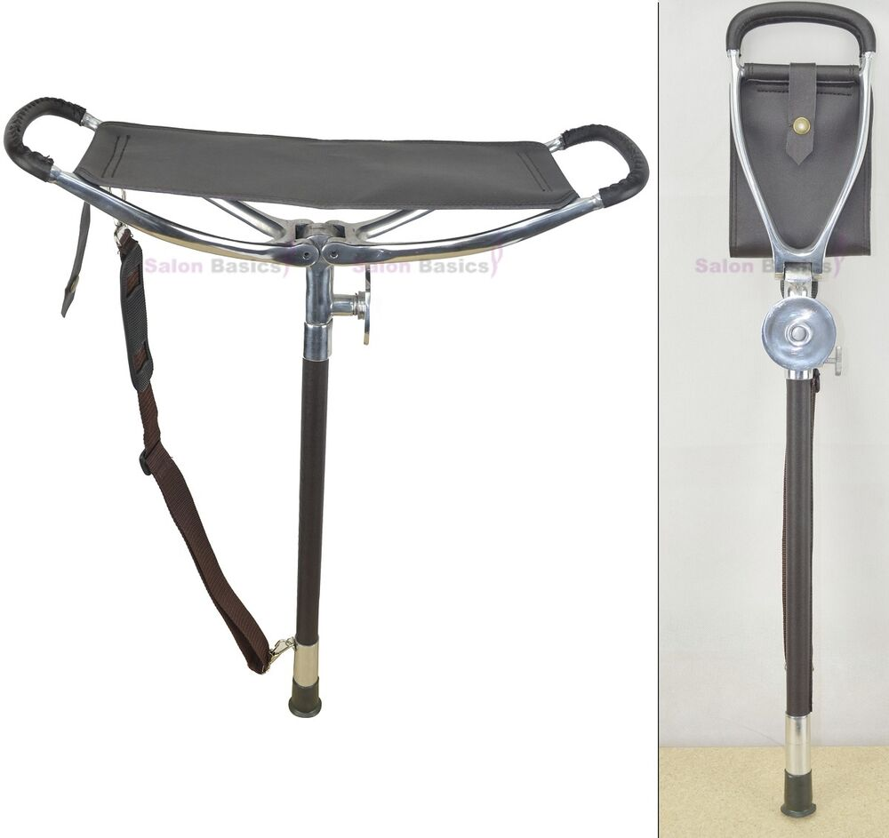 Deluxe Shooting Walking Seat Stick For Fishing Hunt
