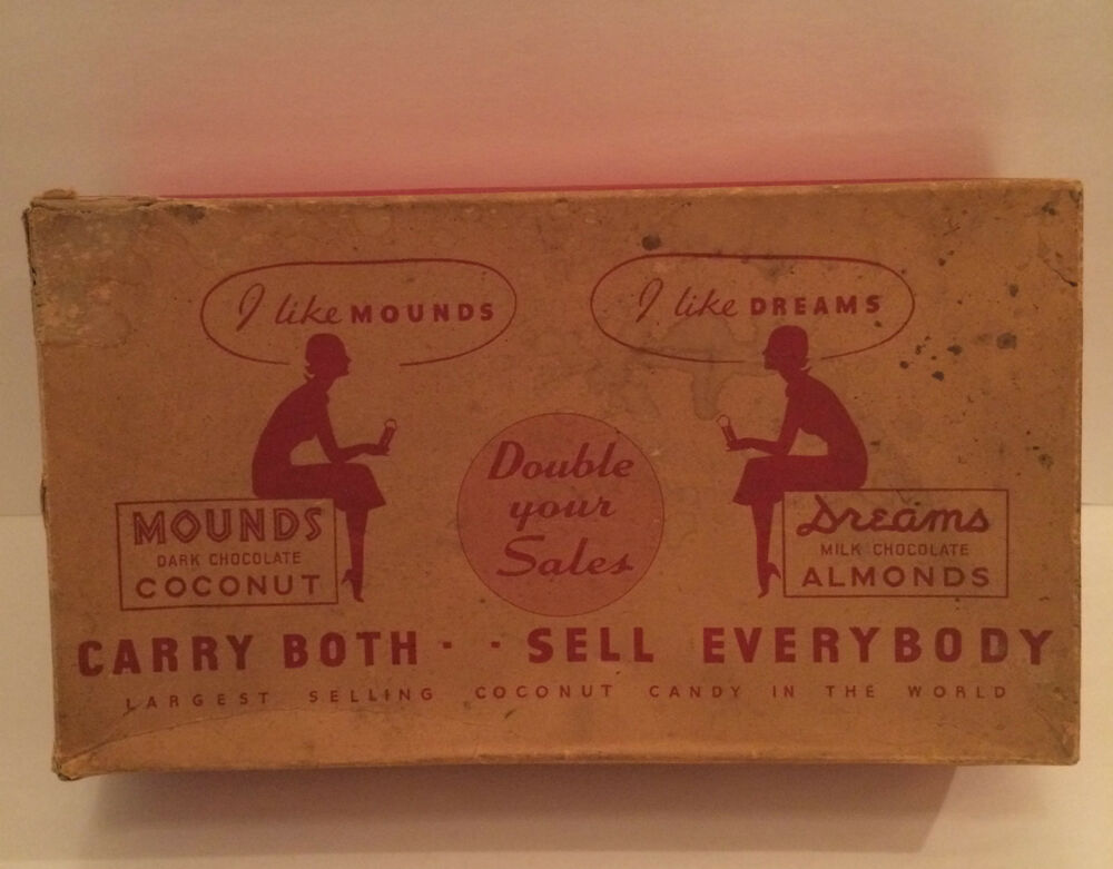 Vintage candy bar boxes
