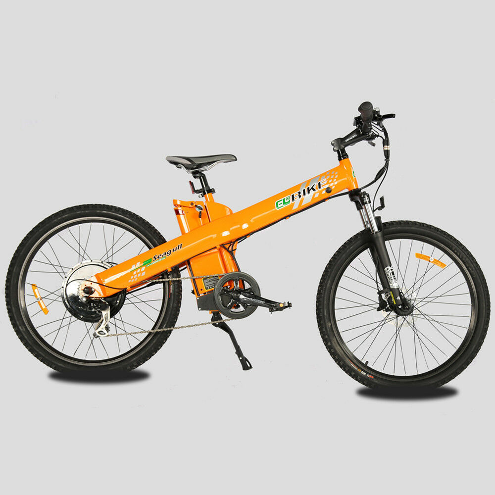 26 orange electric bicycle city e bike mountain 1000w 48v. Black Bedroom Furniture Sets. Home Design Ideas