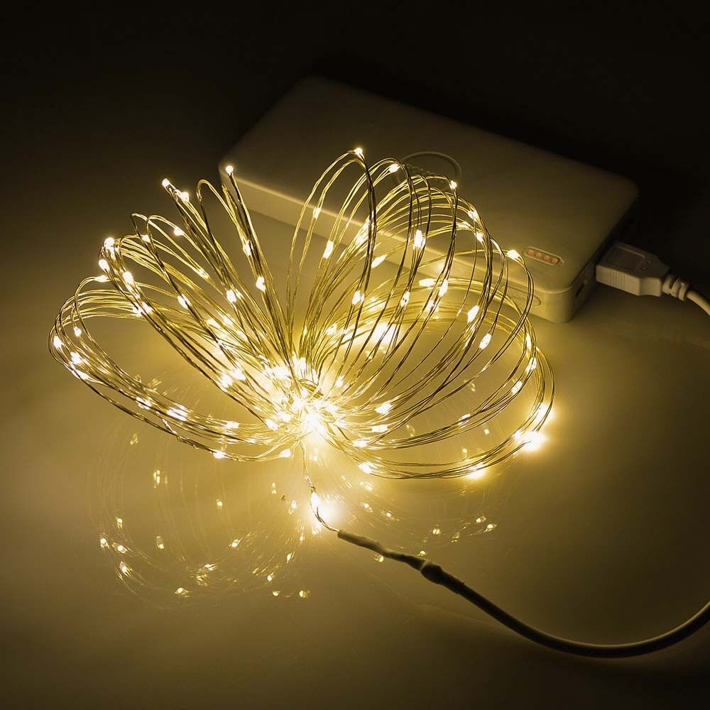 String Lights Usa : 100 LEDs Starry Copper Wire string Lights Fairy Lamp+Power Supply 10M/33FT USA eBay