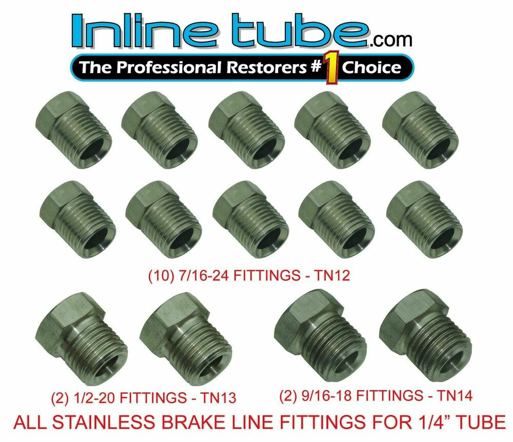 Stainless steel tube fittings nuts tubing inverted