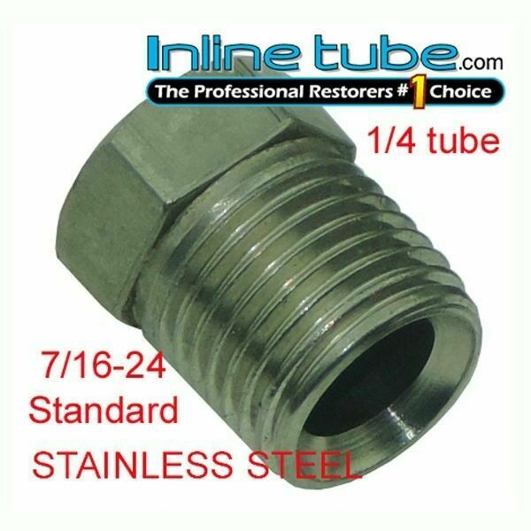 Stainless Steel Brake Line Nuts : Inverted flare stainless steel tube nut fitting