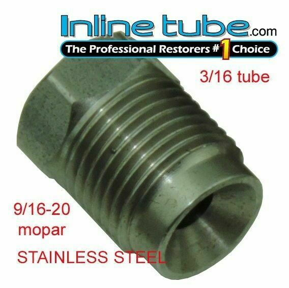 Inverted flare stainless steel tube nut fitting