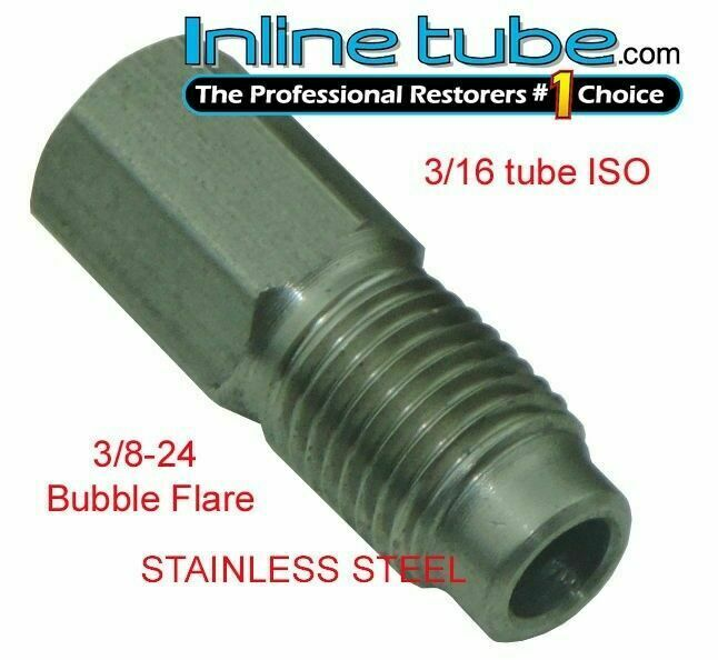 Iso bubble flare stainless steel tube nut fitting