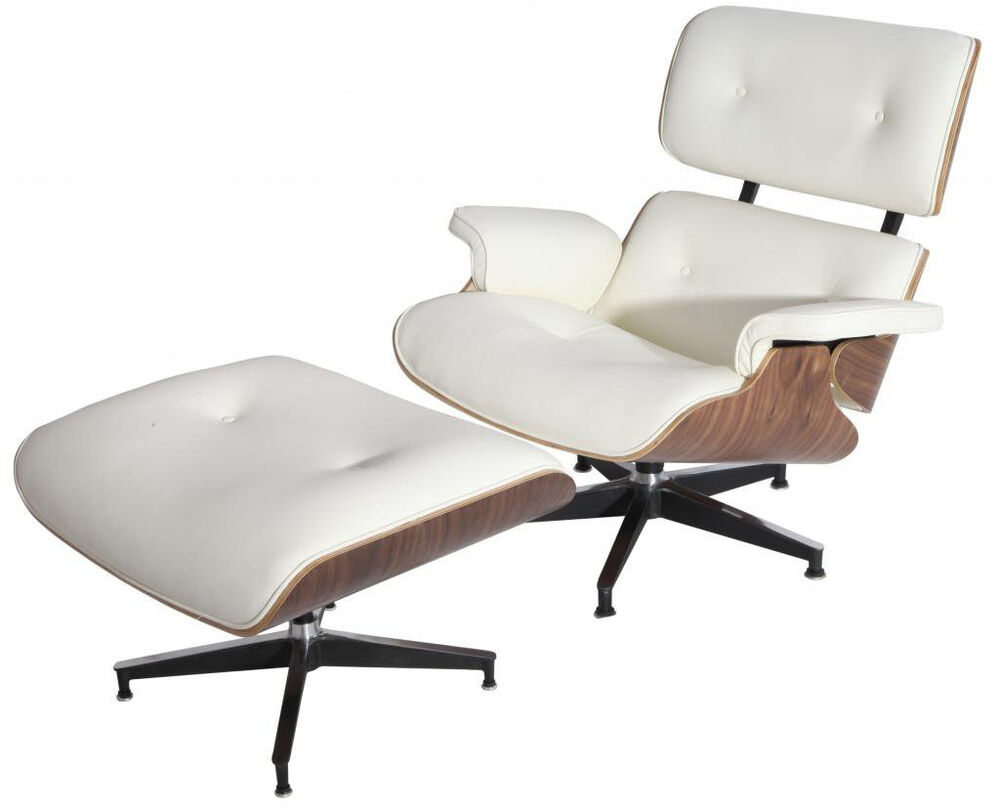 Emod Eames Style Lounge Chair Amp Ottoman Aniline Leather