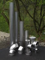 4 X 36'' Long Stainless Steel Stove Pipe (Liner)