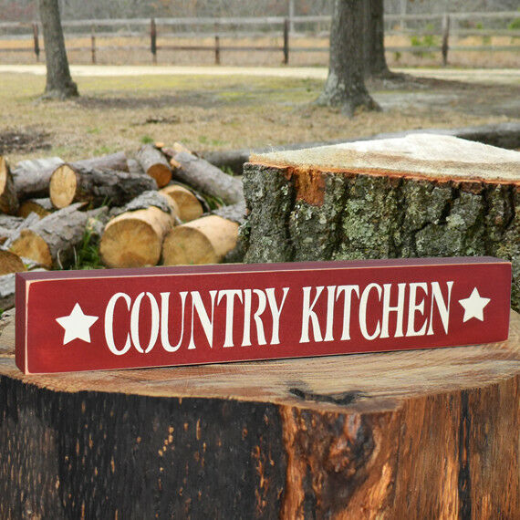 Country Kitchen Wooden Sign