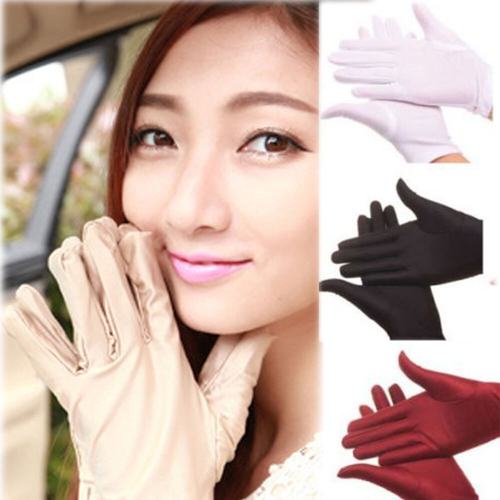 Driving gloves girl - Ddd Ca Lady Girl Short Gloves Wedding Prom Evening Party Summer Driving Glove Ebay