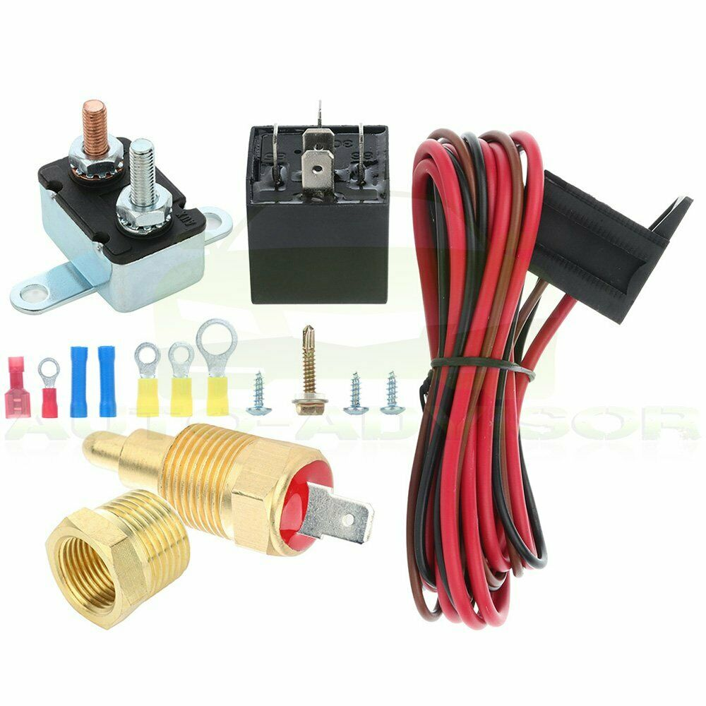 electric engine fan 175 to 185 degree thermostat relay. Black Bedroom Furniture Sets. Home Design Ideas