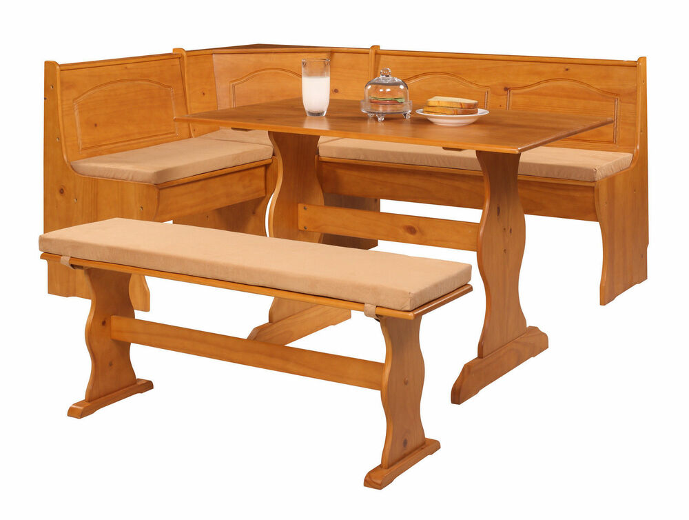 Chelsea cushion set nook solid wood seat corner dining breakfast table bench pad ebay Corner dining table with bench