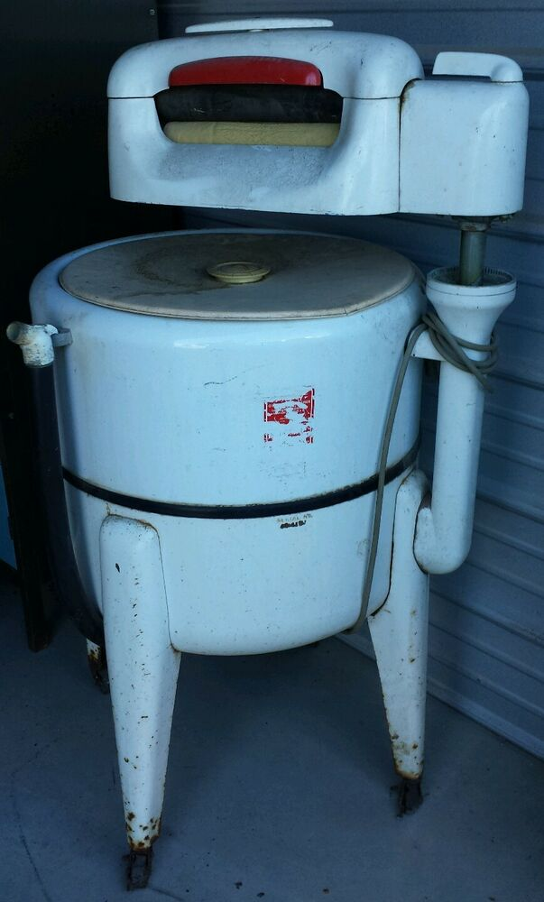 vintage washing machine with ringer